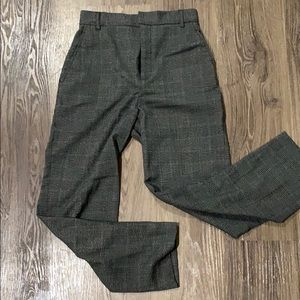 Zara woman plaid trousers